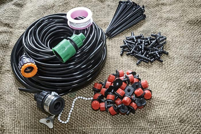 System for drip irrigation garden and garden